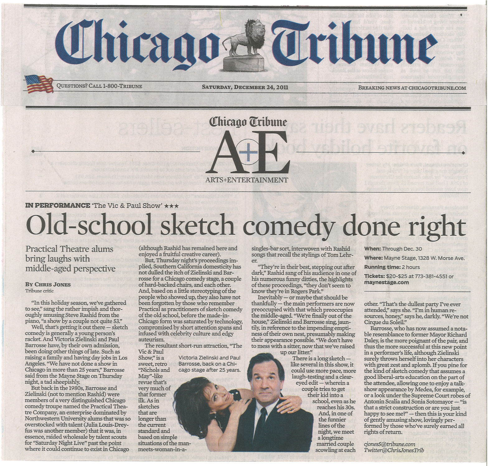 chicago tribune highly recommended - HD 1568×1495