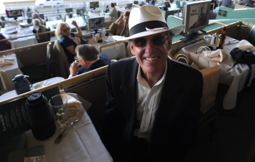 """Our photographer, Steve """"Shutter Bug"""" Stroud, at The Turf Club."""