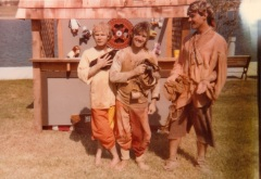 Ross Salinger, the author, and John Goodrich at the Renn Faire in Metairie (1984)