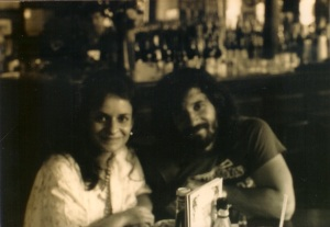 With Victoria at Napoleon House waiting for a Pimms Cup. (1985)