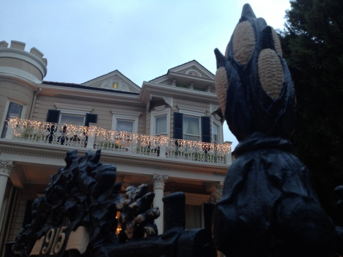 The French Quarter House with the famous cornstalk gate.