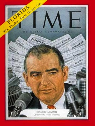 What is Joseph McCarthy famous for?