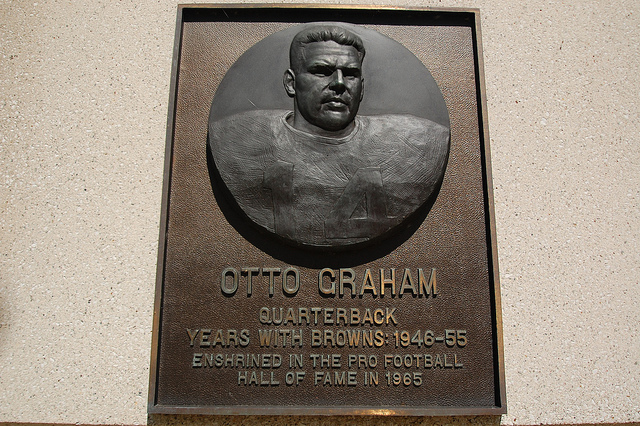 With Graham at QB  Otto Graham Facemask