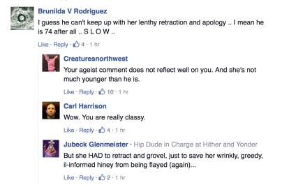 Snarky back and forth