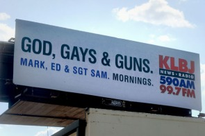 KLBJ Billboard on August 15, 2011