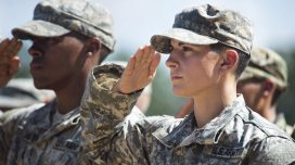 Aug. 21, 2015 - Fort Benning, GA, United States of America - U.S. Army Captain Kristen Griest salutes during graduation ceremonies at the Army Ranger school August 21, 2015 in Fort Benning, Georgia. Griest and fellow soldier 1st Lt Shaye Haver became the first women to graduate from the 61-day-long Ranger course considered on of the most intense and demanding in the military. (Credit Image: � Ssgt. Steve Cortez/Planet Pix via ZUMA Wire)